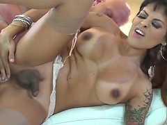 Christian XXX gets a chance to fuck a hot shemale named TS Foxxy in this anal sex video
