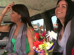 Hey everyone! Preston Parker, bringing you this weeks BangBus update.  This week we were out on 8th street and we came across these 2 fly little mamas buying some flowers.  You know me,  I had to jump at the opportunity.  Like any woman out there, these chicks love when guys buy them flowers.  I used..