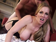 With big tits lets Danny D fuck her sweet mouth before anal sex