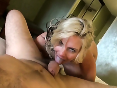 Phoenix Marie offers her back yard to Manuel Ferrara after she gets her throat used