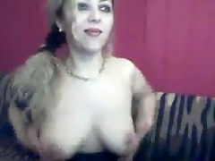 Amateur Tranny Strokes Her Cock