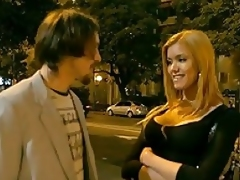 Sexy blonde transsexual hooker Danielle is out working the streets when shes approached by a potential john. They settle on a price, and she takes him back to her place. They engage in some small talk before she strips so he can suck on her fake tits. She sucks his hard cock, and she lays back and..