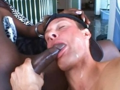 Black shemale and her man fuck faces