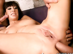Eloa Lombard with giant breasts cant live a day without taking sturdy love stick in her mouth
