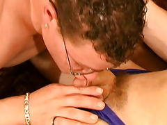 Sexy shemale seduces horny geek