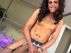 Wanna relax with horny tranny Then take a glance at Kelli Lox! This babe got cock instead of pussy between legs and today she is going to masturbate is well on camera.