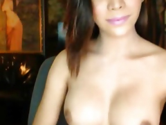 Gorgeous Busty Tranny Masturbation