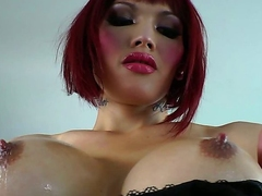 Posing, stripping, showing her pert boobs, showing her cute cock and tattoos, Eva Lin is in the line up for the next exotic Shemale Idol. Will she be yours Be warned, this Tgirl will hook you.