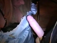 Drilling a Crossdresser Ass