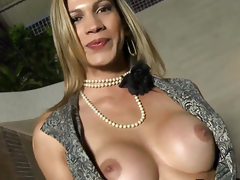 Horny shemale amateur tranny facialized