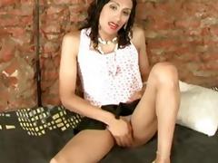 Skinny latin shemale slut fucked